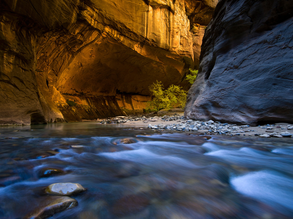 Golden Narrows in Zion National Park