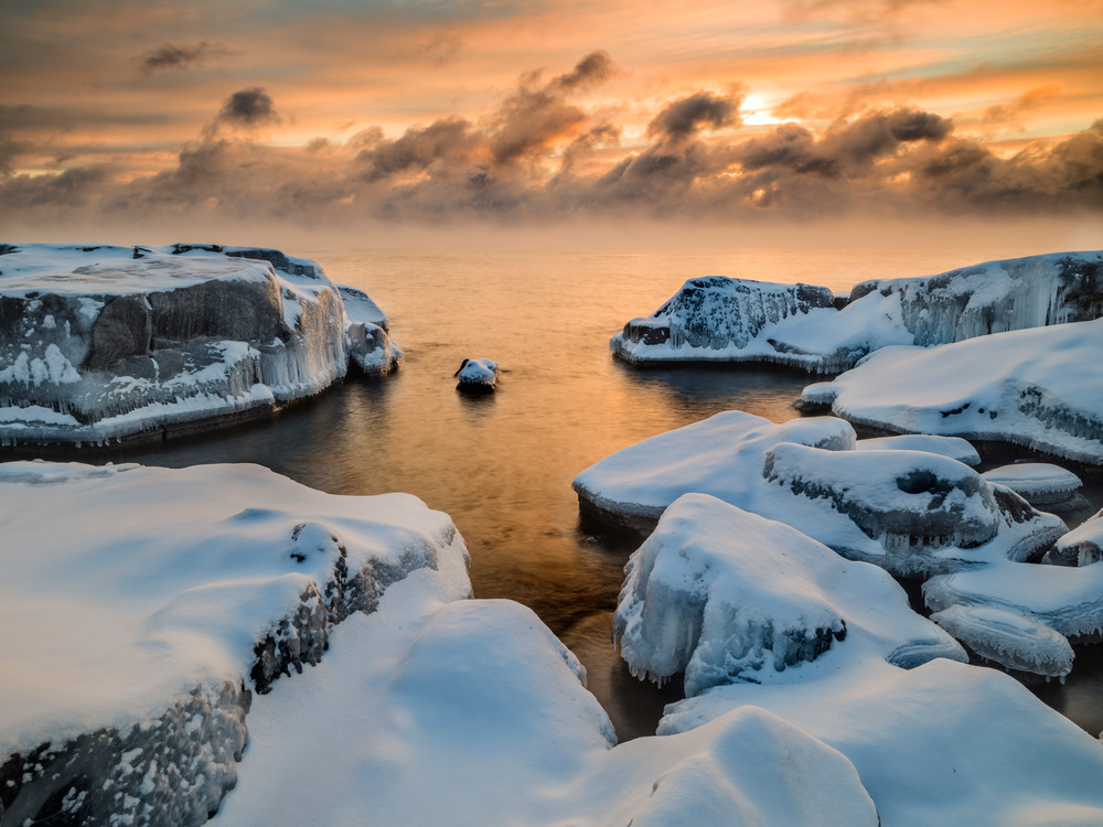 Frigid captured along Lake Superior