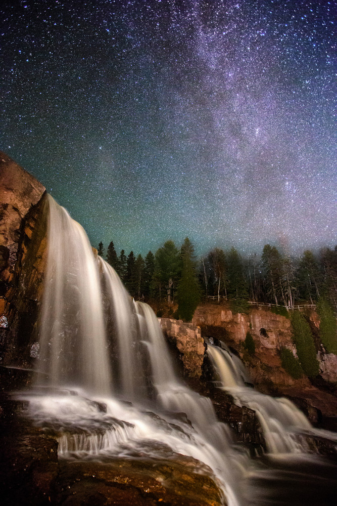 Gooseberry Falls Under the Milky Way