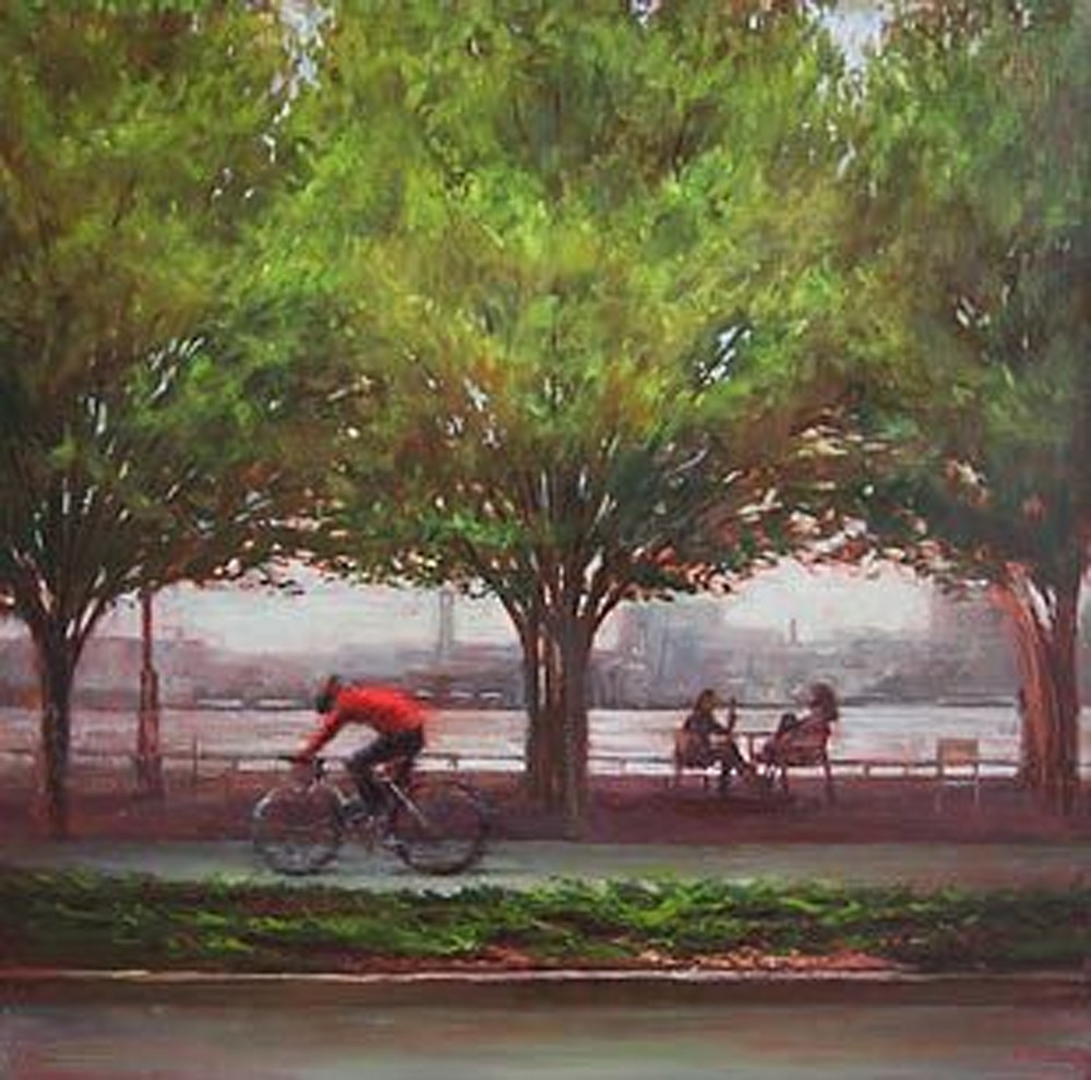 Spring Green & Red Biker