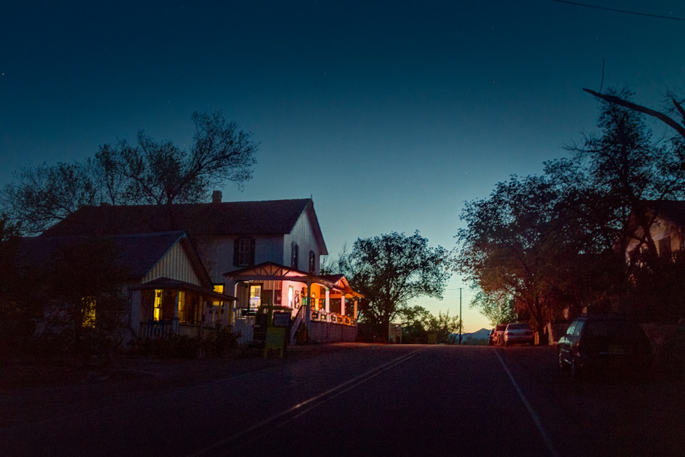 nocturne, photography, Madrid, New Mexico, Southwest