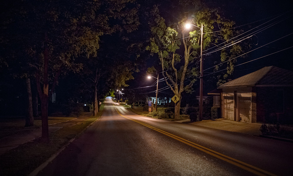 Photography,  Kentucky, nocturne, cityscape, Russellville