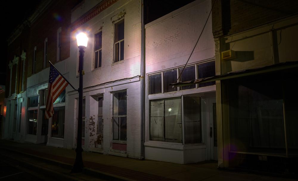 nocturne, photography, Alabama, Greensboro, landscape, cityscape
