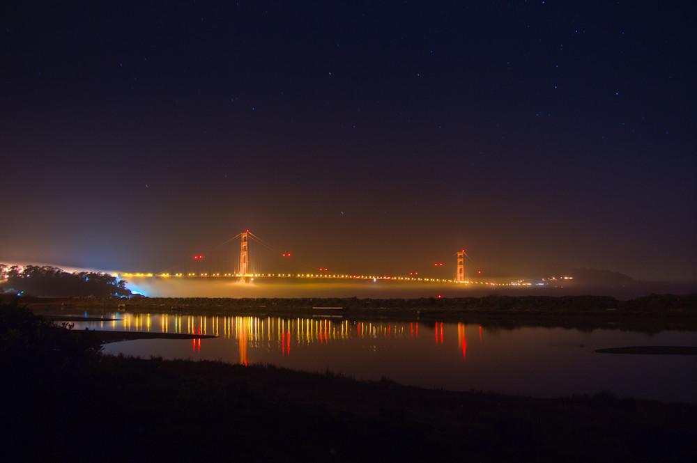 Photography, Marin County, nocturne, Golden Gate Bridge, California
