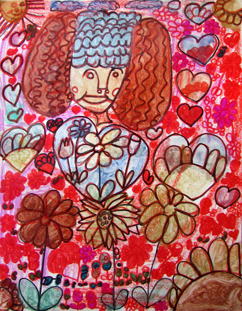 Lady with Hearts by Susan H.