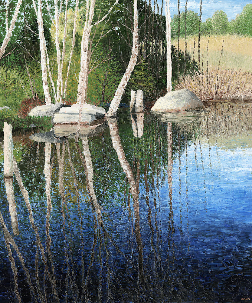 Reflexions in a Blue Pond