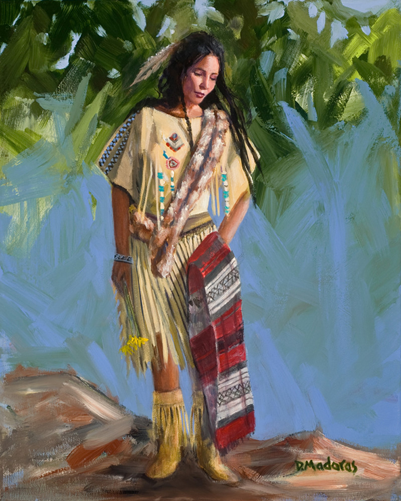Maiden at the Falls | Southwest Art Gallery Tucson | Madaras