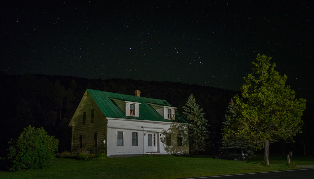 Photography, nocturne, Pittsfield,Vermont,