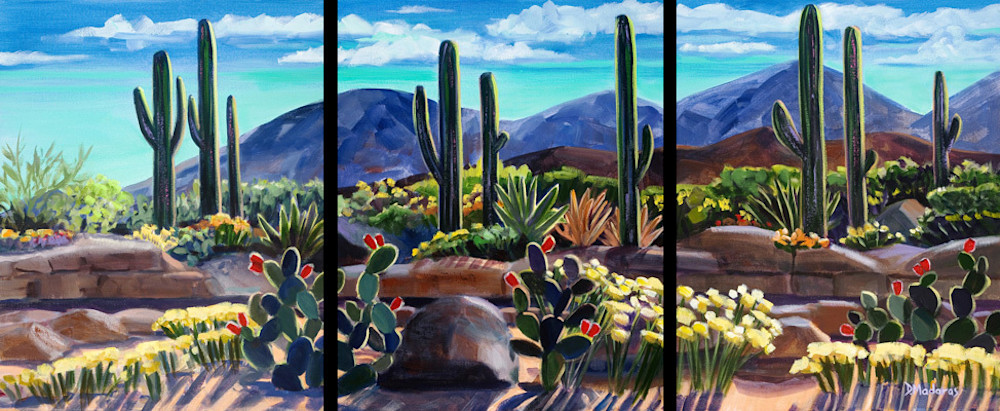 After a Good Rain Triptych | Southwest Art Gallery Tucson