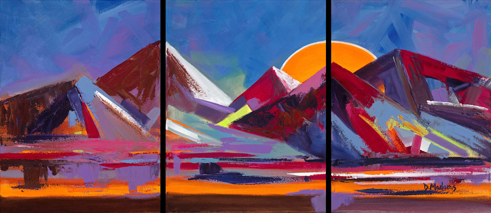 Peaks & Valleys Triptych | Southwest Art Gallery Tucson