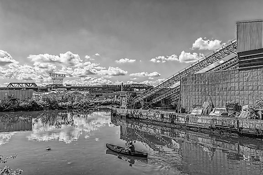 Rower on the Gowanus Canal