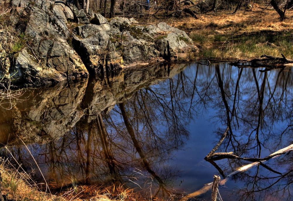 Fine Art Photograph of Great Falls Reflection by Michael Pucciarelli