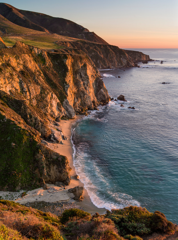 Sunset along California's Big Sur Coast