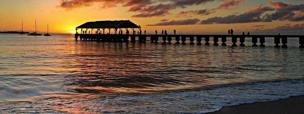 Sunset at Hanalei Pier | Kauai Fine Art Photography, Hawaii