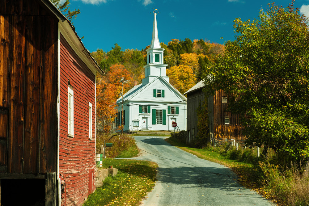 Picturesque Vermont Scenery as Fine Art Prints/the classic Waitsfield Vermont village available as wall decor!