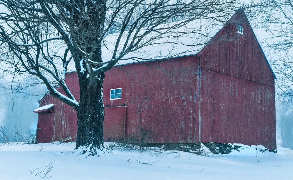 A snowy winter Connecticut scenic landscape fine art print by Tom Schoeller/Beautiful artwork from the Litchfield Hills