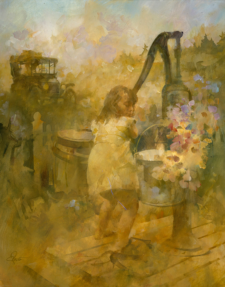 Girl with Water Pump