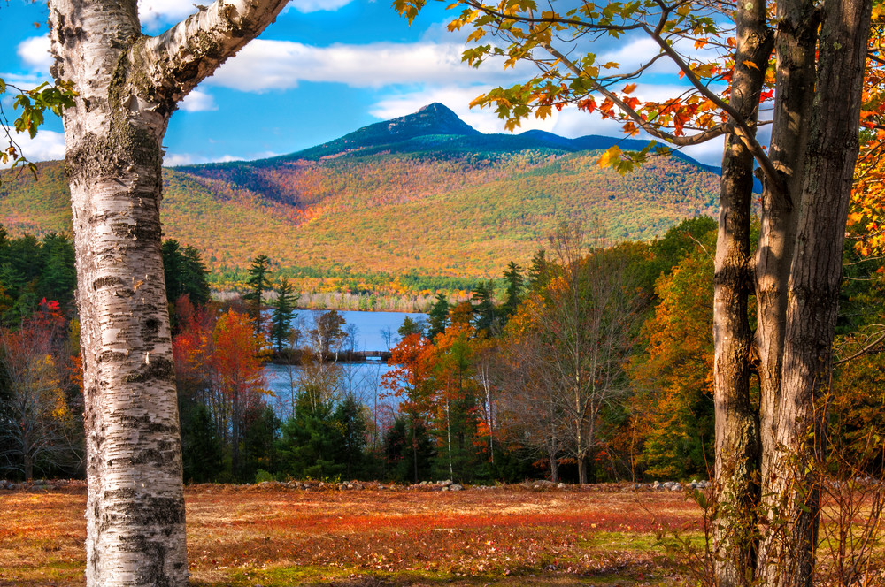 New Hampshire's fabled Mt Chocorua during foliage season/Fine art prints by Thom Schoeller