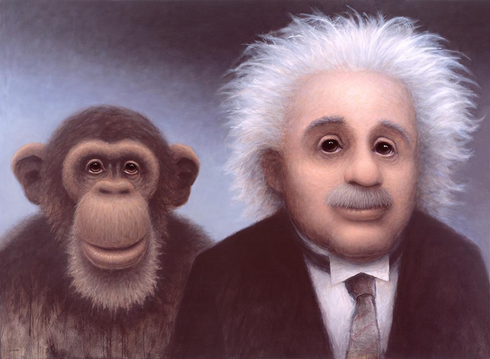 Einstein And Monkey Art | Fine Art New Mexico
