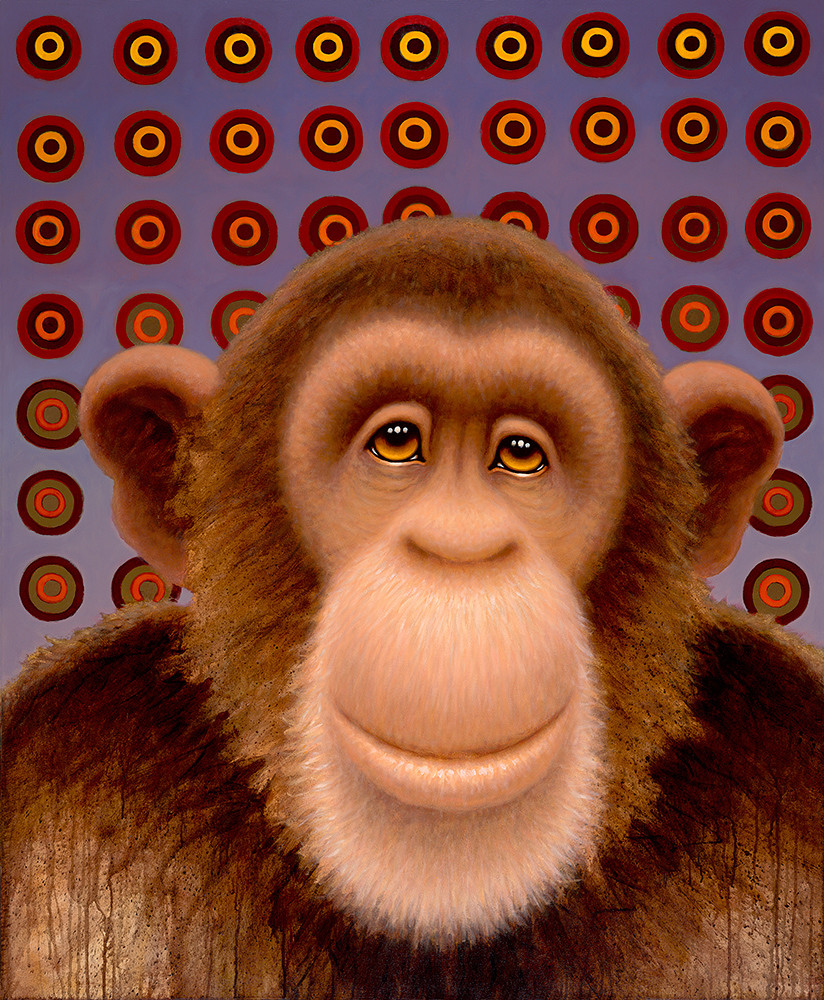 Psychedelic Chimp No. 4