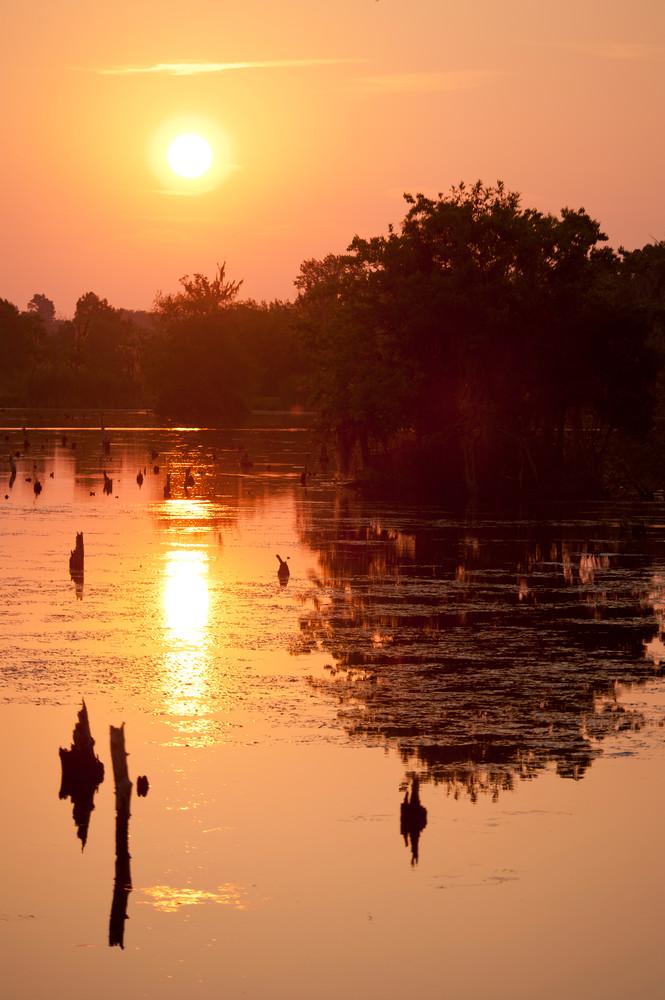 Sunrise Reflections, Damon, Texas
