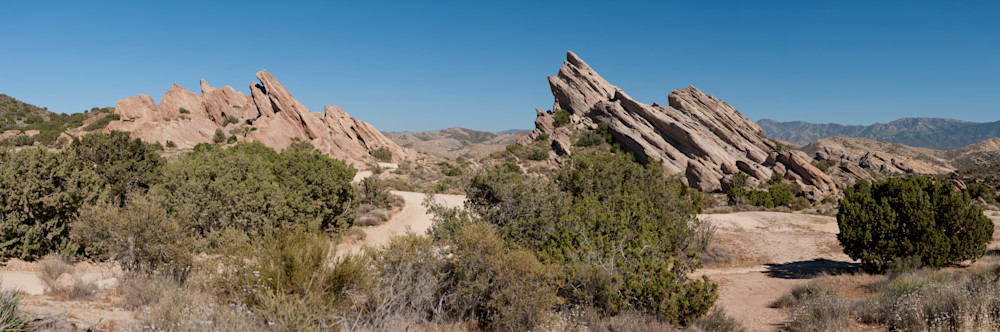 Vasquez Rocks Pano, Agua Dulce, California