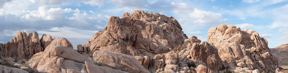 Indian Cove Rock Formations Pano, Joshua Tree, California