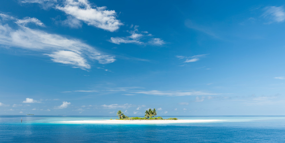 Tropical Island Pano, Huvadhoo Atoll, Maldives