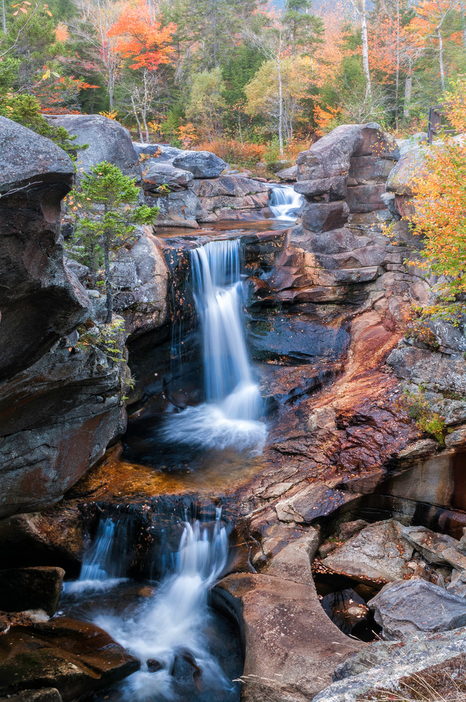 White Mountain waterfall and mountain streams fine art prints/Maine's stunning Grafton Notch awesome Screw Auger Falls prints