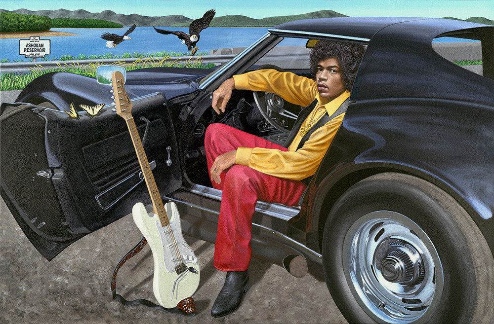 Jimi and His Corvette