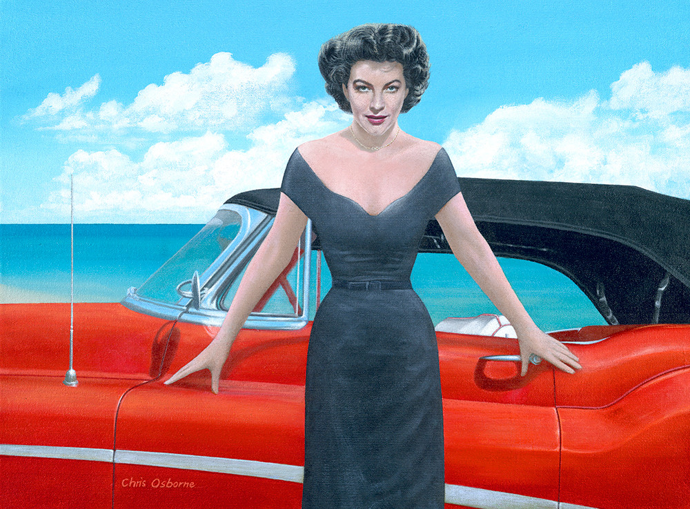 Ava Gardner with 1955 Skylark