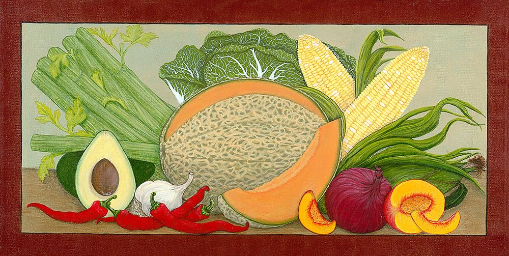 Cantaloupe and Corn