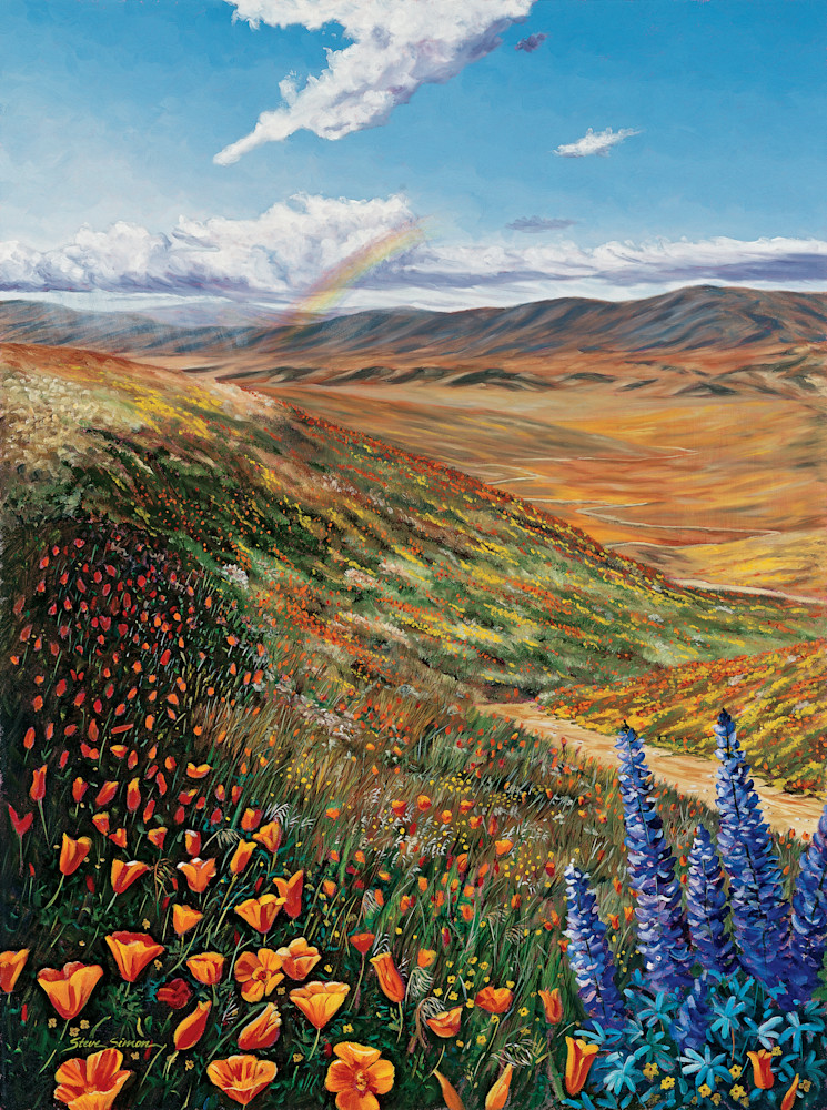 Golden Poppies and Lupine in Antelope Valley