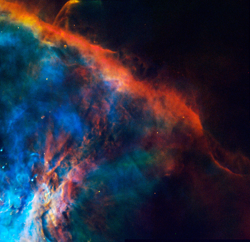 Gas Plume near Orion Nebula