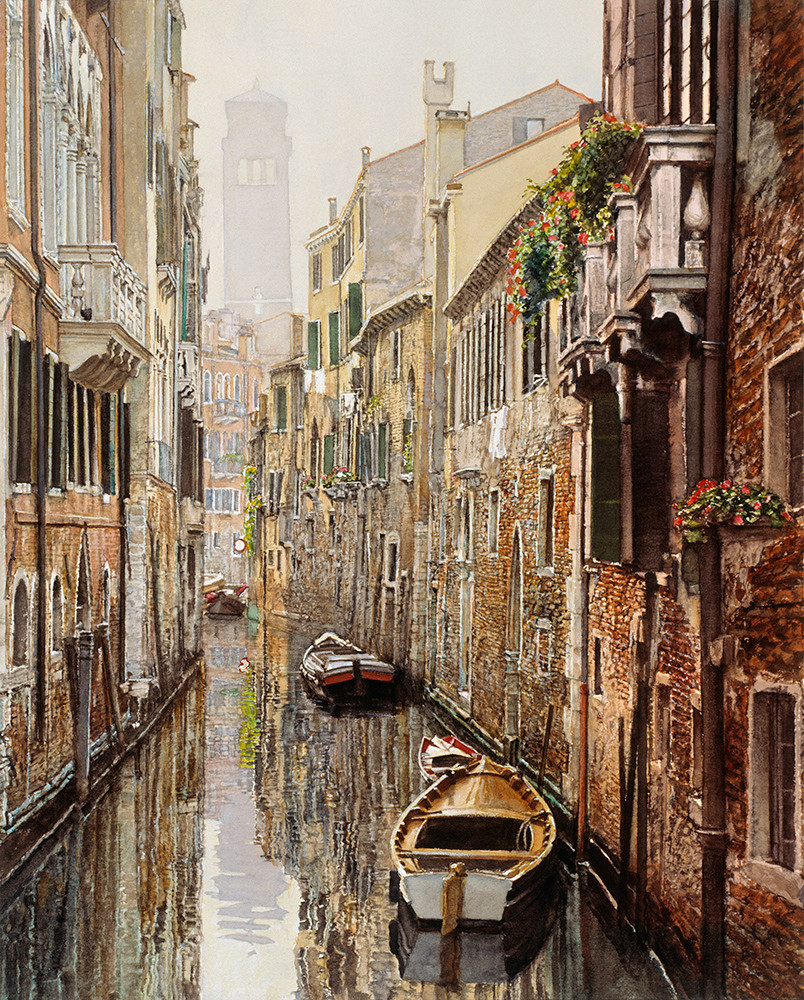 Quiet Canal Venice, James Asher