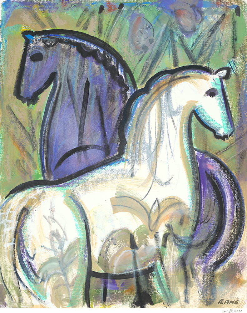 Horses In The Pines Art | Fine Art New Mexico