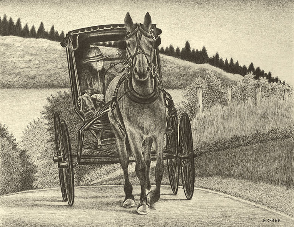 """Amish Buggy"" Art | Brent Crabb Art"