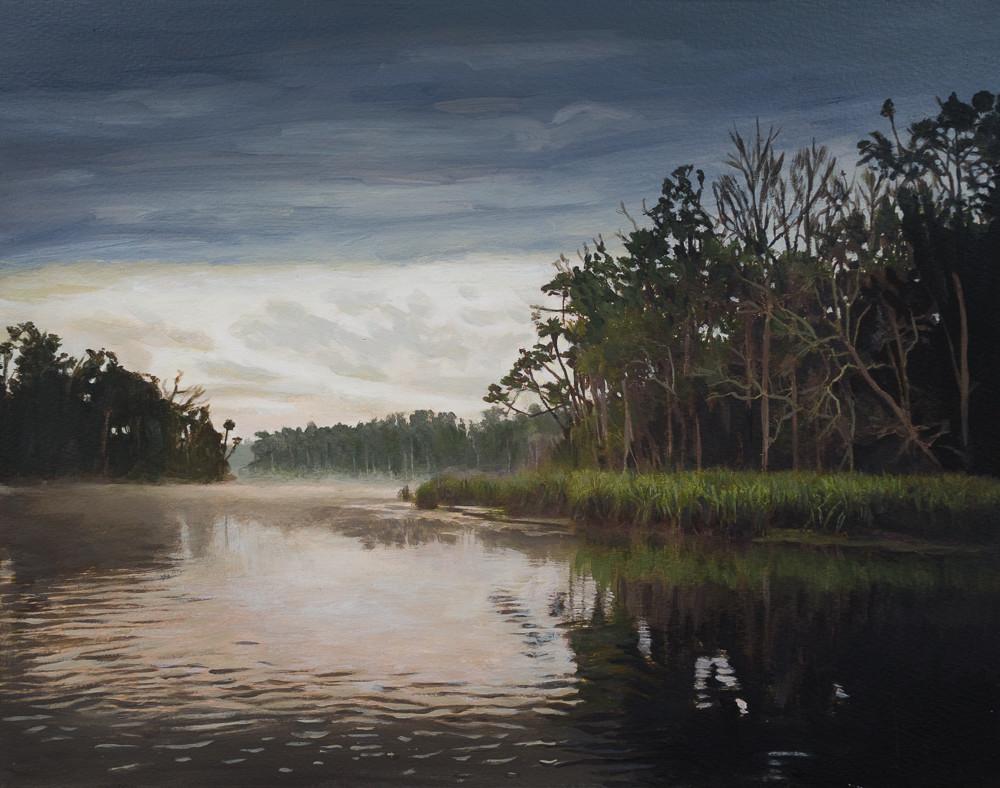 Florida, Landscape, Chassahowitzka River, Acrylic, Painting, Florida Landscape,