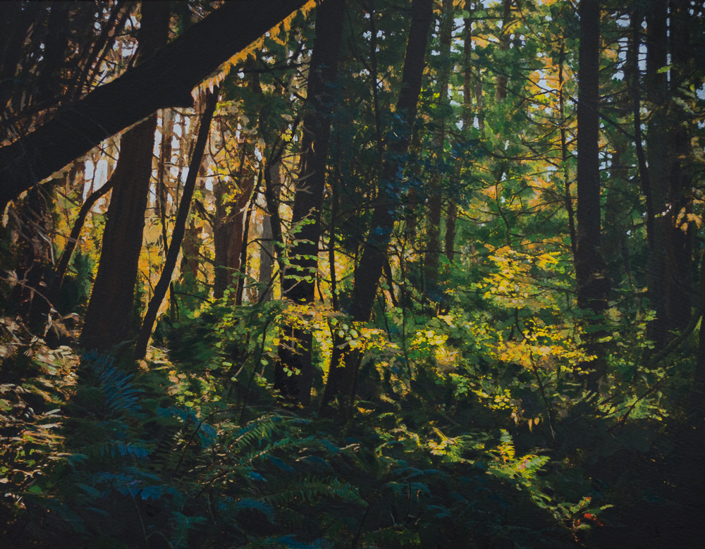 Landscape, California, Pt. Reyes, Marin County, Acrylic, Painting