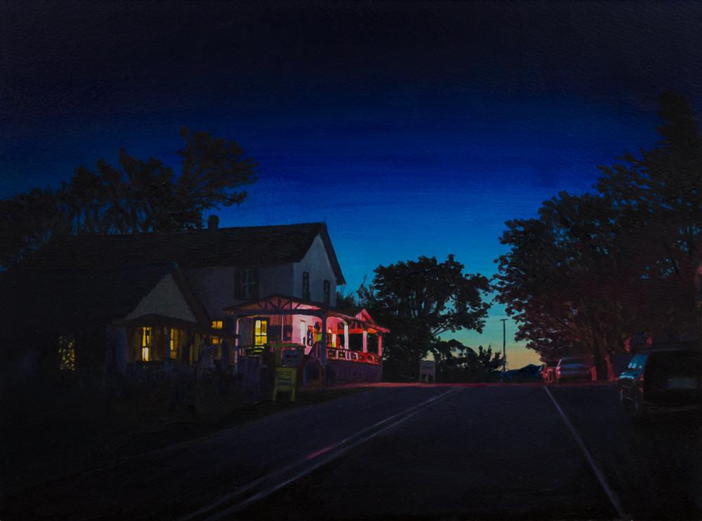 Nocturne, Acrylic, New Mexico, Madrid, Landscape