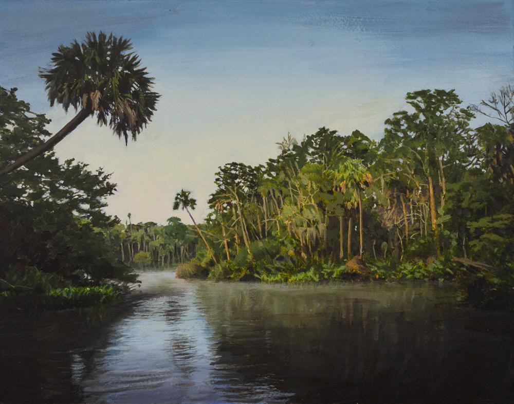 Florida, Landscape, Chassahowitzka River, Acrylic, Acrylic Landscape, Florida Landscape