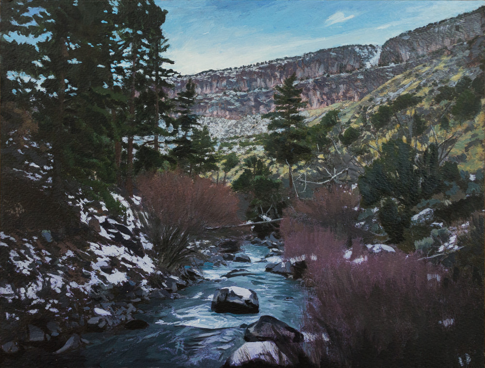 New Mexico, Landscape, Acrylic, Red River, Southwest, Acrylic Landscape
