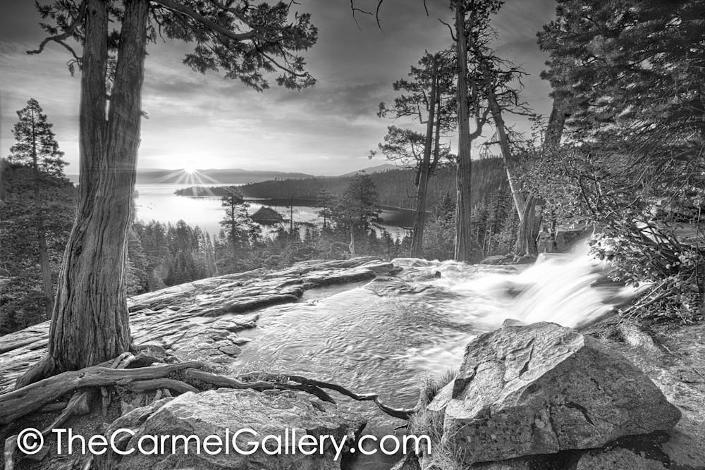 Daybreak Lake Tahoe  BW