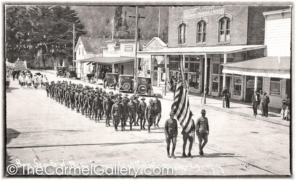 Boy Scout Parade Calistoga 1919