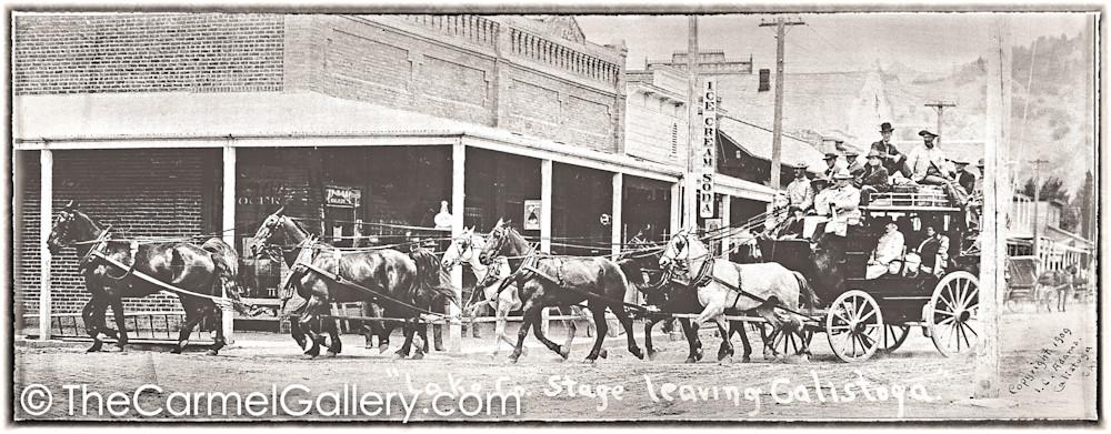 Lake County Stagecoach Calistoga 1909
