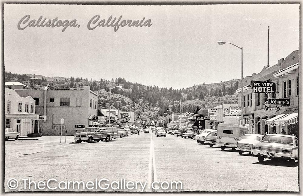 Lincoln Ave Calistoga 1960's