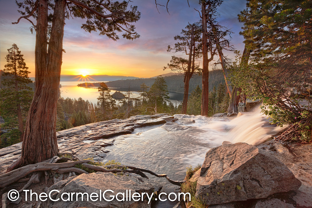 Beautiful sunrise fine art print of Emerald Bay, Lake Tahoe