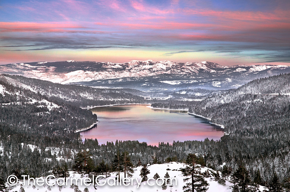 December Sunset Donner Lake