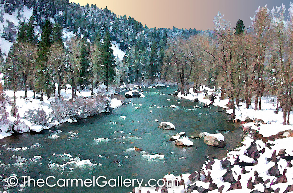 April Snow  Truckee River