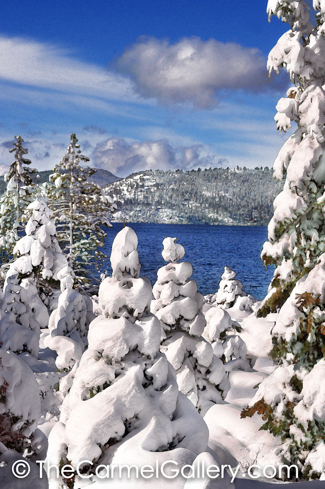 Snowy Morning Lake Tahoe